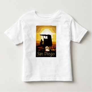 San Diego Beach Sunset Kids Toddler T-shirt
