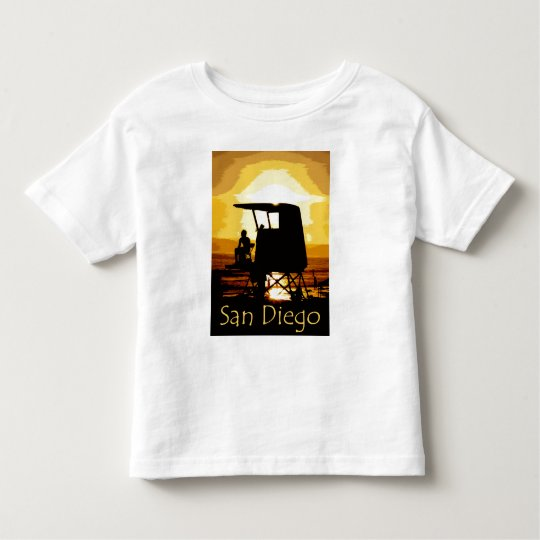 San Diego Beach Sunset Kids Toddler T-shirt