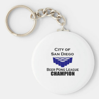 San Diego Beer Pong Champion Basic Round Button Keychain