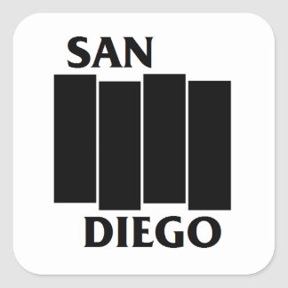 San Diego/Black Flag parody sticker