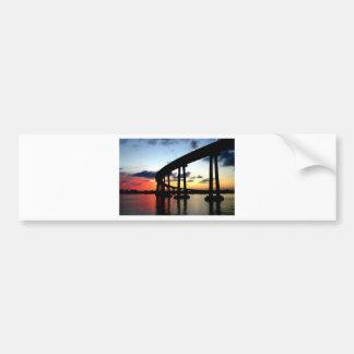 San Diego Bridge Sunset Bumper Sticker