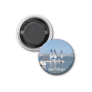 San Diego, CA 1 Inch Round Magnet