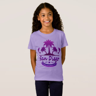 San Diego, CA Dolphins with Palm Trees T-Shirt