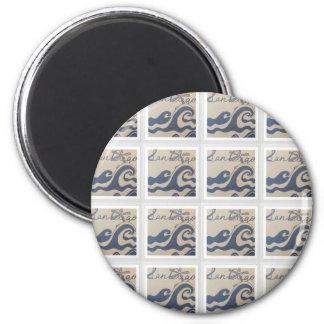 San Diego, CA love design pattern 2 Inch Round Magnet