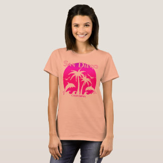San Diego, CA Orange and Pink T-Shirt
