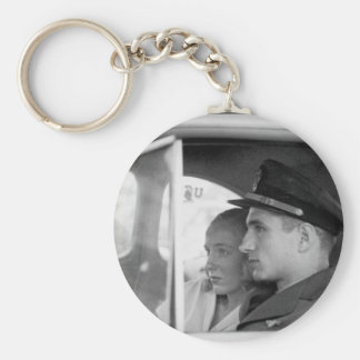 San Diego, Calif.  A young officer_War Image Basic Round Button Keychain