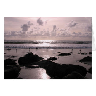 San Diego California beach sunset Card