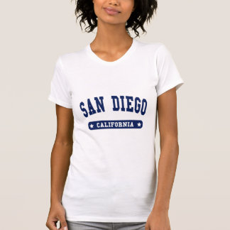 San Diego California College Style tee shirts