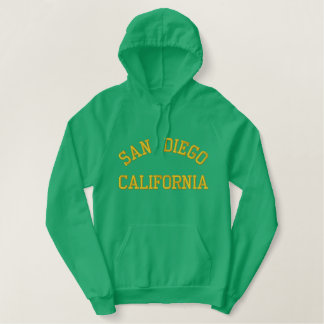 SAN DIEGO, CALIFORNIA EMBROIDERED HOODIE