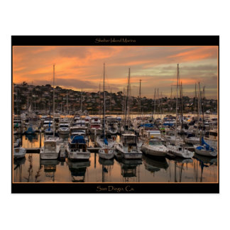 San Diego California Marina Post Card