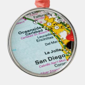 San Diego, California Metal Ornament