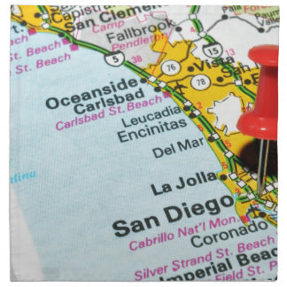 San Diego, California Napkin