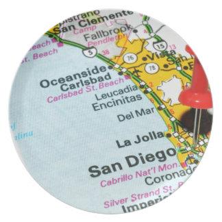 San Diego, California Plate