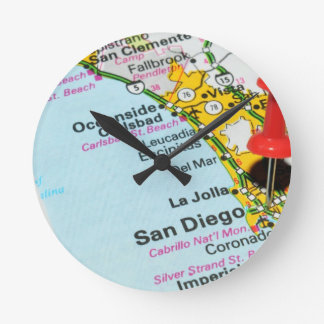 San Diego, California Round Clock