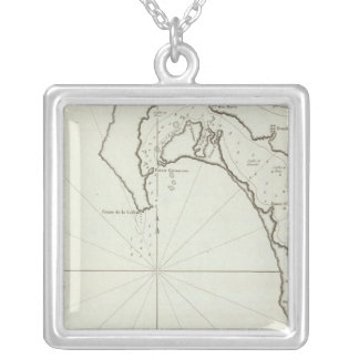 San Diego, California Silver Plated Necklace
