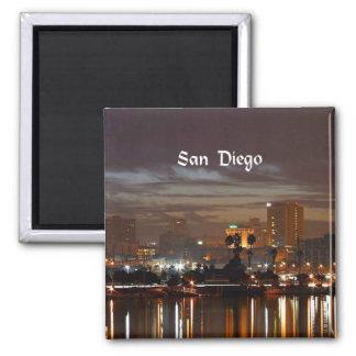San Diego, California skyline Square Magnet
