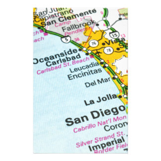 San Diego, California Stationery
