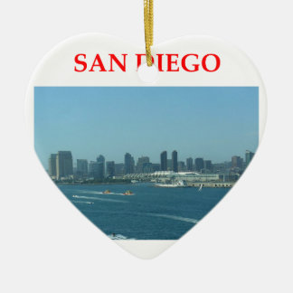 san diego ceramic ornament