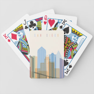 San Diego City Skyline Bicycle Playing Cards