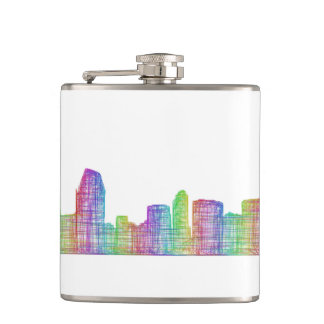 San Diego city skyline Flasks