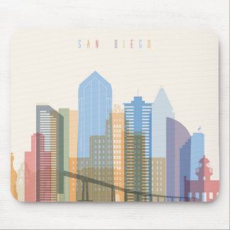 San Diego City Skyline Mouse Pad