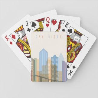 San Diego City Skyline Playing Cards