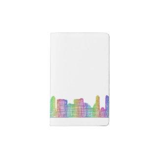 San Diego city skyline Pocket Moleskine Notebook