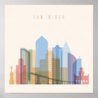 San Diego City Skyline Poster