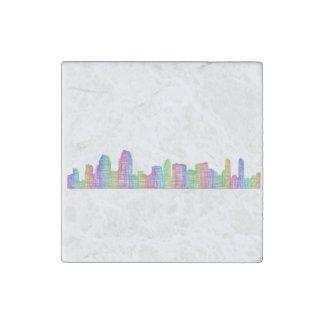San Diego city skyline Stone Magnets