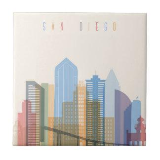 San Diego City Skyline Tile