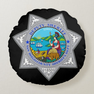 San Diego County Sheriff's Department Round Pillow