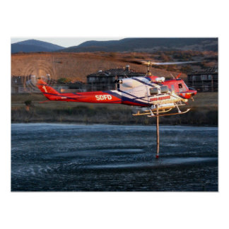 San Diego Fire Department Helicopter Poster