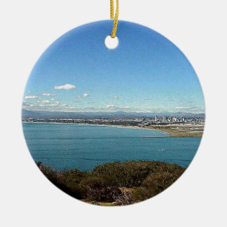 San Diego From The Cabrillo Statue Ceramic Ornament