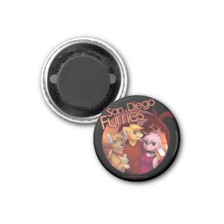 San Diego Furries 1 Inch Round Magnet