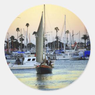 San Diego Harbor Marina Classic Round Sticker