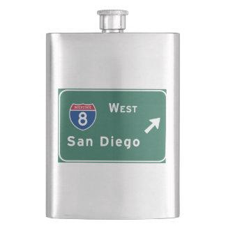 San Diego I-8 West Exit Interstate California Ca - Flasks