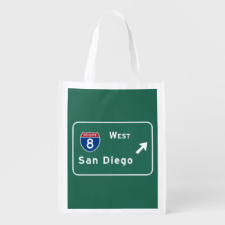 San Diego I-8 West Exit Interstate California Ca - Market Totes
