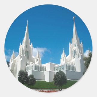 San Diego LDS Temple Classic Round Sticker