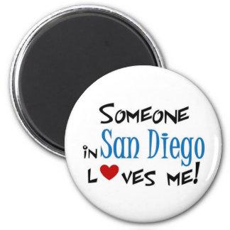San Diego Love 2 Inch Round Magnet