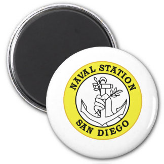 SAN DIEGO Naval Station California Military Patch Magnet