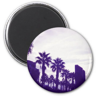 San Diego Purple 2 Inch Round Magnet