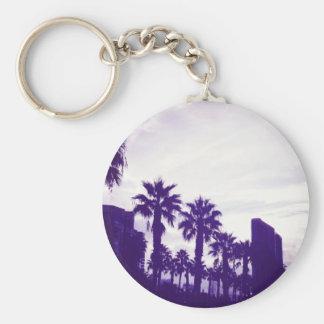 San Diego Purple Basic Round Button Keychain