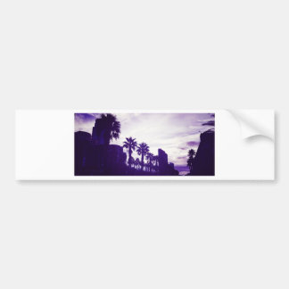 San Diego Purple Bumper Sticker