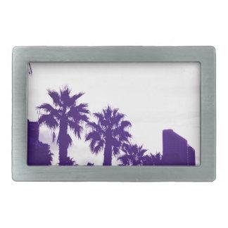 San Diego Purple Rectangular Belt Buckles