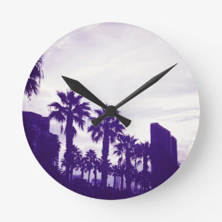 San Diego Purple Round Clock