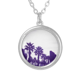 San Diego Purple Silver Plated Necklace