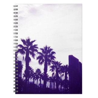 San Diego Purple Spiral Notebook