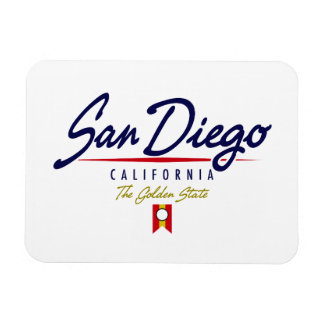 San Diego Script Rectangular Photo Magnet