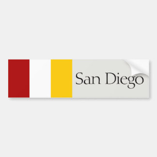 San Diego simplified city flag bumper sticker