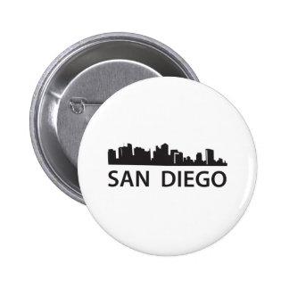 San Diego Skyline 2 Inch Round Button
